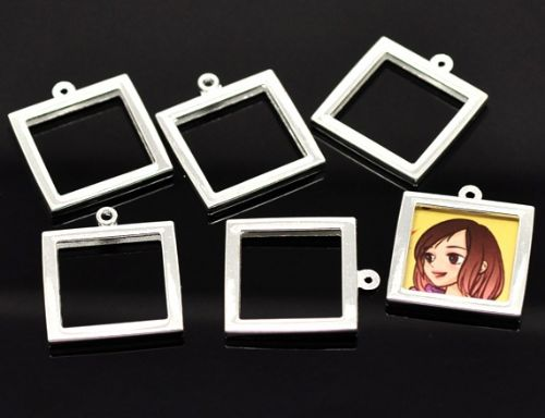 2 Silver Plated Frames 26x20mm(Fit 17x17mm)